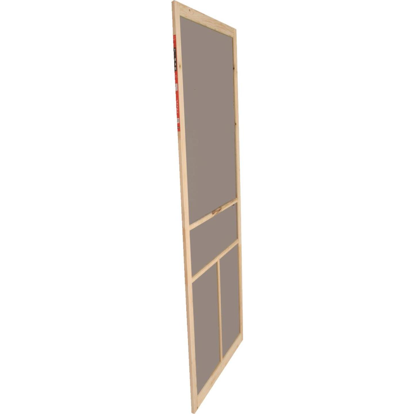 Snavely Kimberly Bay 36 In. W. x 80 In. H. x 1 In. Thick Natural Fingerjoint Pine T-Bar Screen Door Image 1
