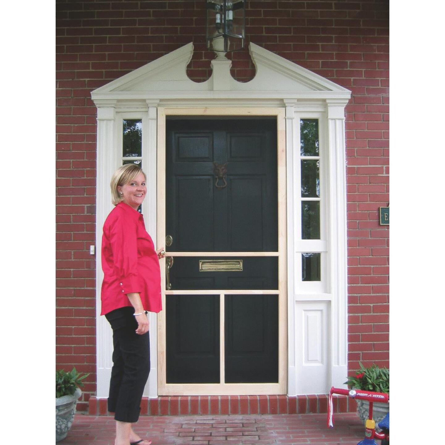 Snavely Kimberly Bay 36 In. W. x 80 In. H. x 1 In. Thick Natural Fingerjoint Pine T-Bar Screen Door Image 2
