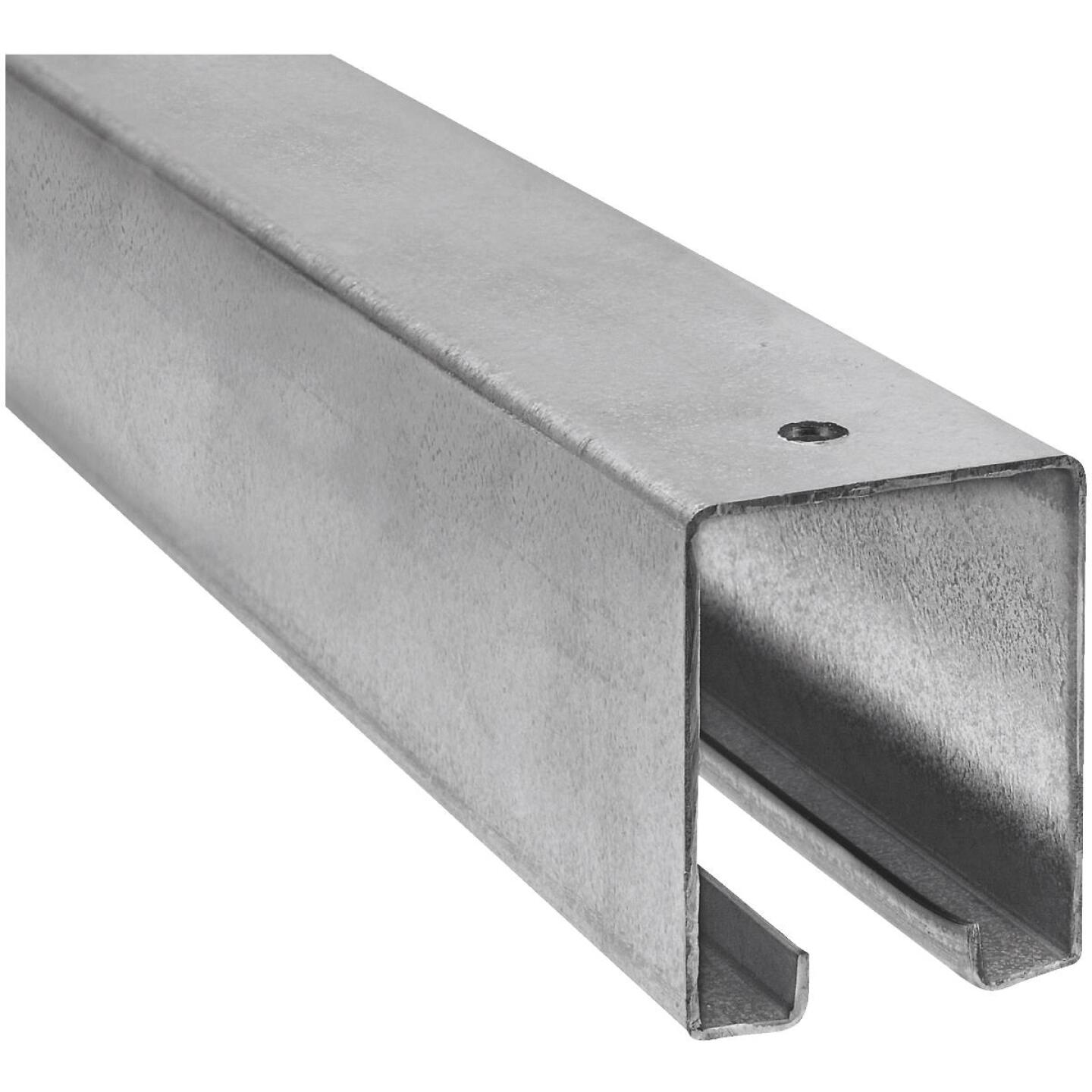 National 16 Ft. Galvanized Box Rail Barn Door Rail Image 1